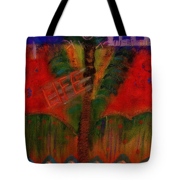 Tote Bag featuring the painting Celebrate Life by Angela L Walker