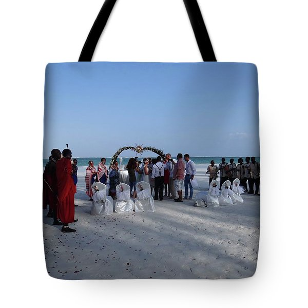 Celebrate Marriage On The Beach Tote Bag