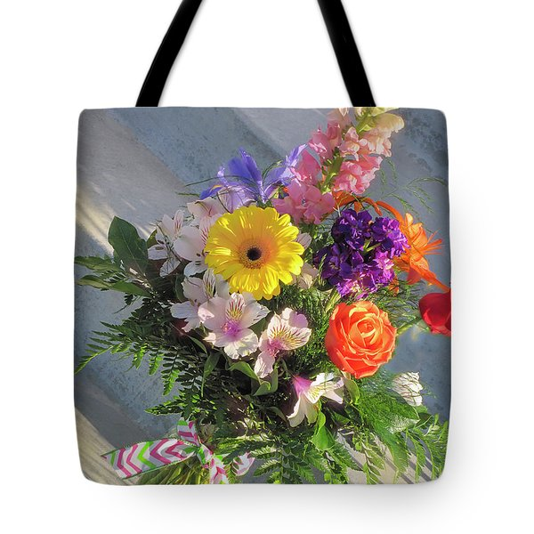 Tote Bag featuring the photograph Celebrate With A Bright Bouquet by Nancy Lee Moran