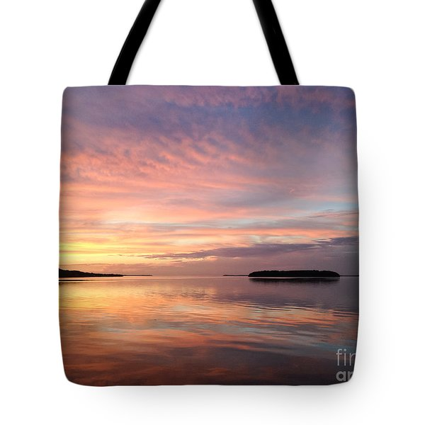 Celebrating Sunset In Key Largo Tote Bag