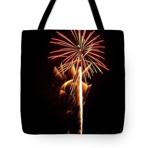 Tote Bag featuring the photograph Celebration Fireworks by Bill Barber