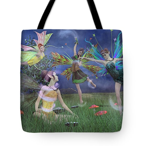 Celebration Of Night Alice And Oz Tote Bag by Betsy Knapp