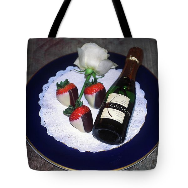 Celebration Plate Tote Bag by Sally Weigand