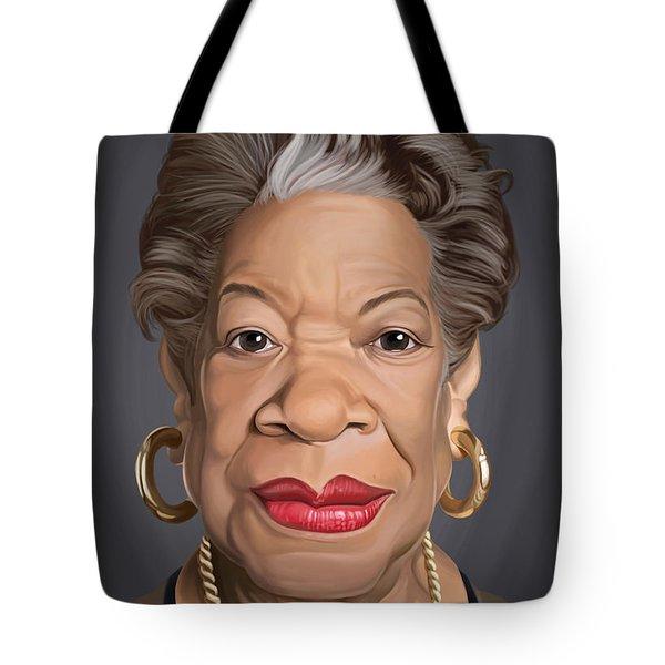 Celebrity Sunday - Maya Angelou Tote Bag