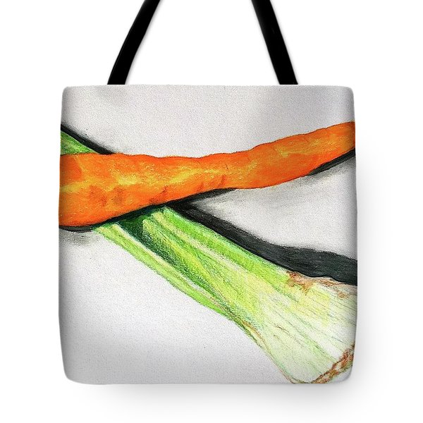 Celery And Carrot Together Tote Bag