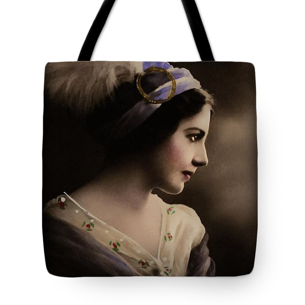 Tote Bag featuring the digital art Celeste Aida by Isabella Howard