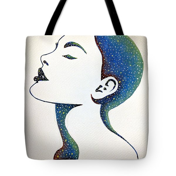 Tote Bag featuring the painting Celeste by Edwin Alverio