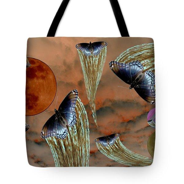 Celestial Butterflies Tote Bag