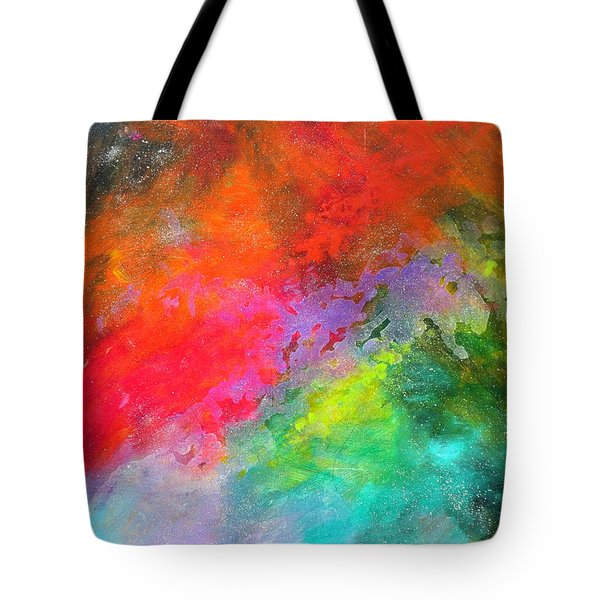 Fantasies In Space Series Painting. Celestial Concerto. Painting.  Tote Bag