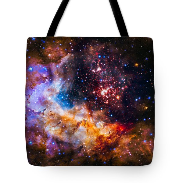 Celestial Fireworks Tote Bag by Marco Oliveira