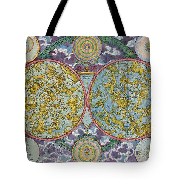 Celestial Map Of The Planets Tote Bag by Georg Christoph Eimmart