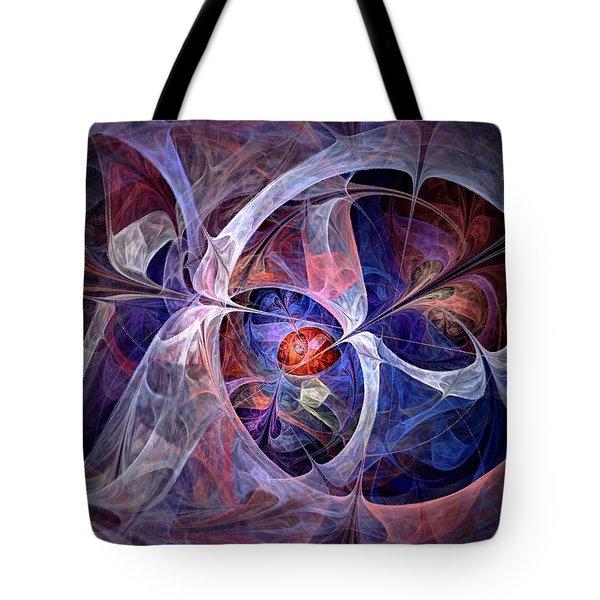 Celestial North - Fractal Art Tote Bag