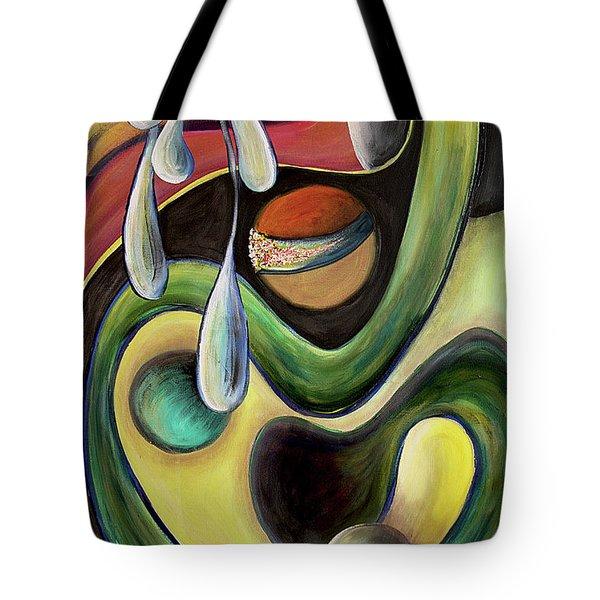 Celestial Rhythms  Tote Bag by Jolanta Anna Karolska