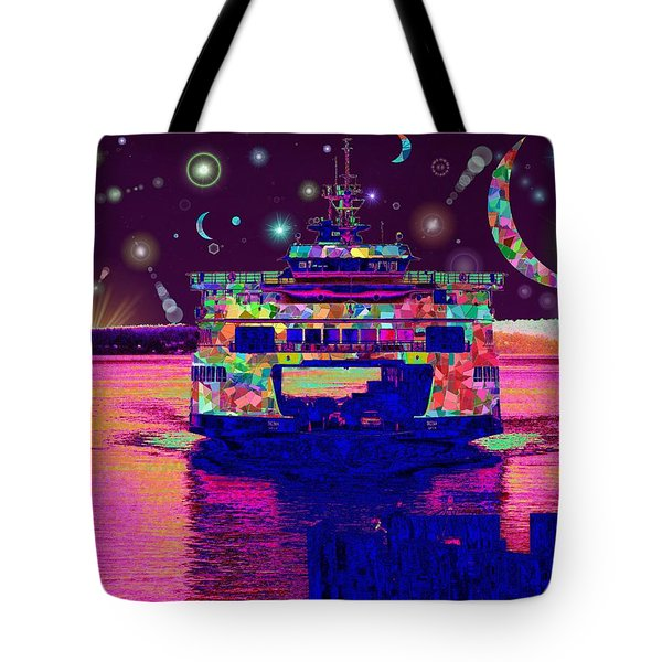 Celestial Sailing Tote Bag by Tim Allen