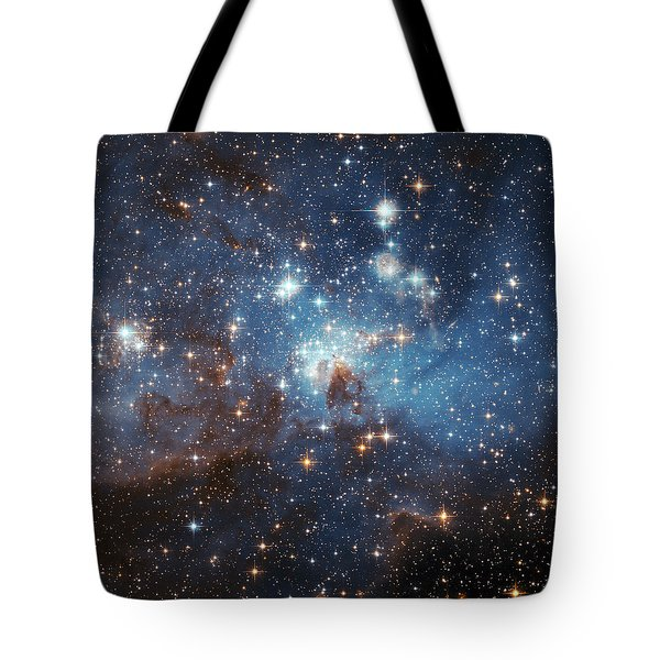 Tote Bag featuring the photograph Celestial Season's Greetings From Hubble by Nasa