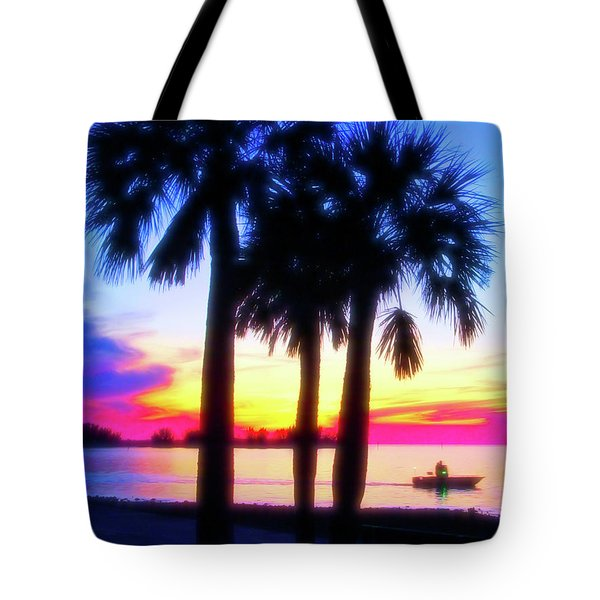 Tote Bag featuring the photograph Celestial Skies Beach Sunset by Aimee L Maher Photography and Art Visit ALMGallerydotcom