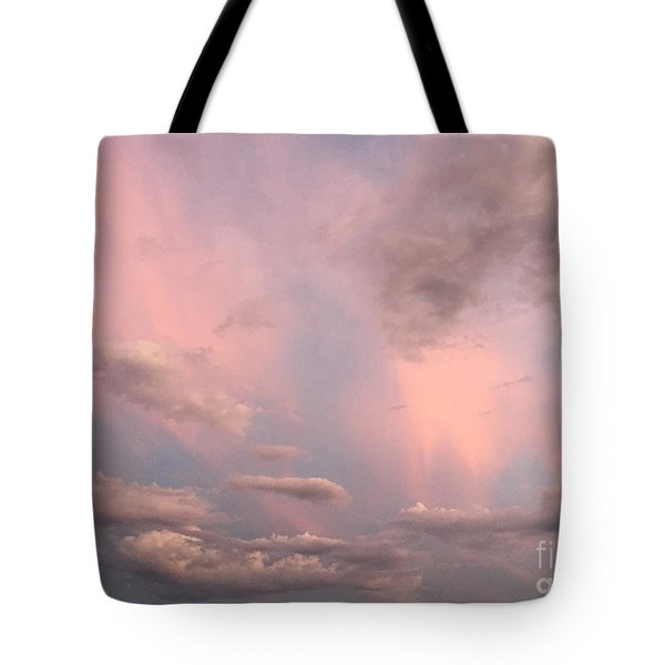 Tote Bag featuring the photograph Celestial Sky by Paula Guttilla