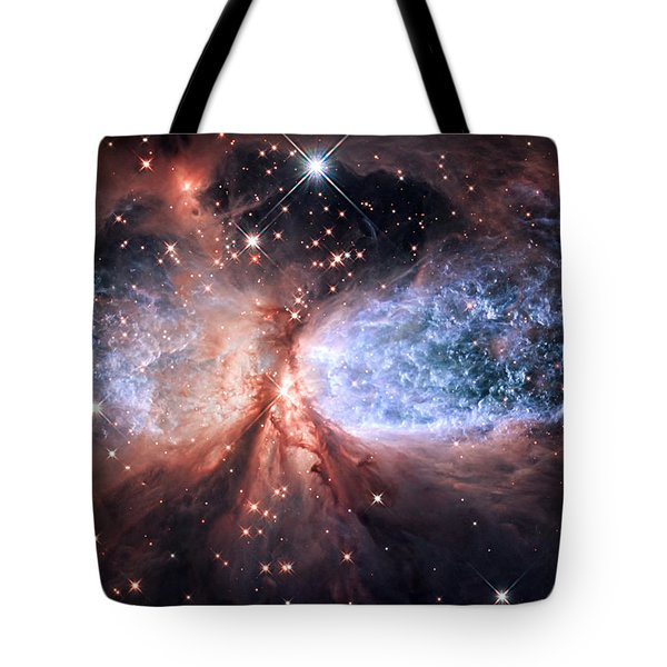 Tote Bag featuring the photograph Celestial Snow Angel - Enhanced - Sharpless 2-106 by Adam Romanowicz
