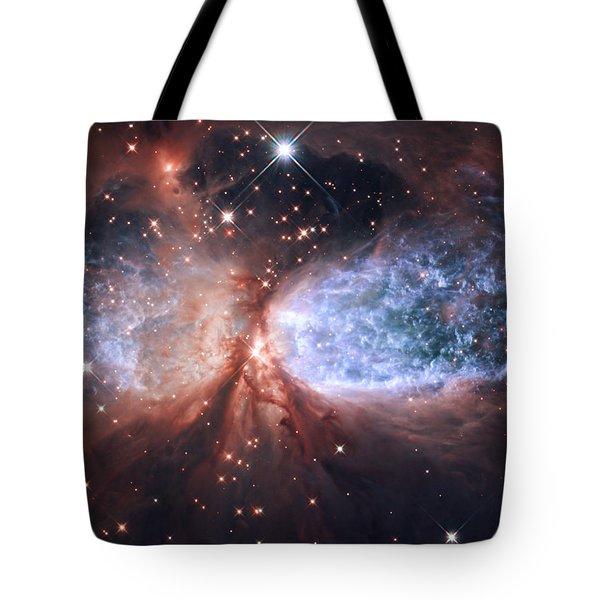 Celestial Snow Angel Tote Bag