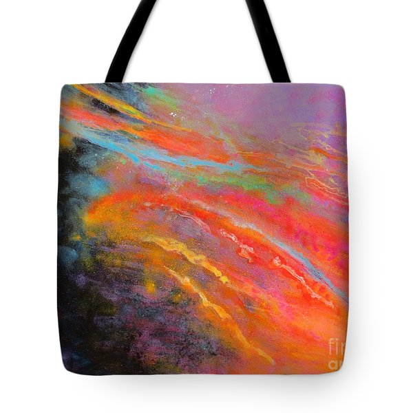 Fantasies In Space Series Painting. Celestial Symphony Tote Bag