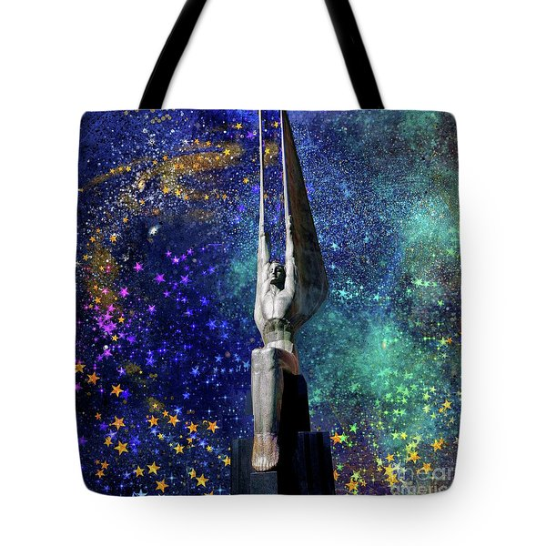 Celestial Winged Figures Of The Republic Tote Bag