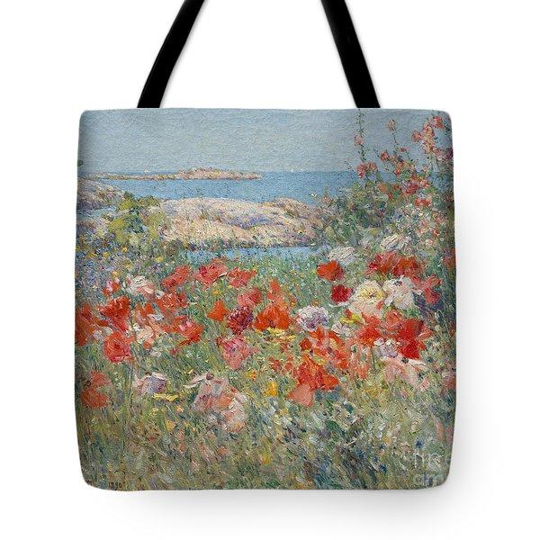 Celia Thaxter's Garden, Isles Of Shoals, Maine, 1890 Tote Bag
