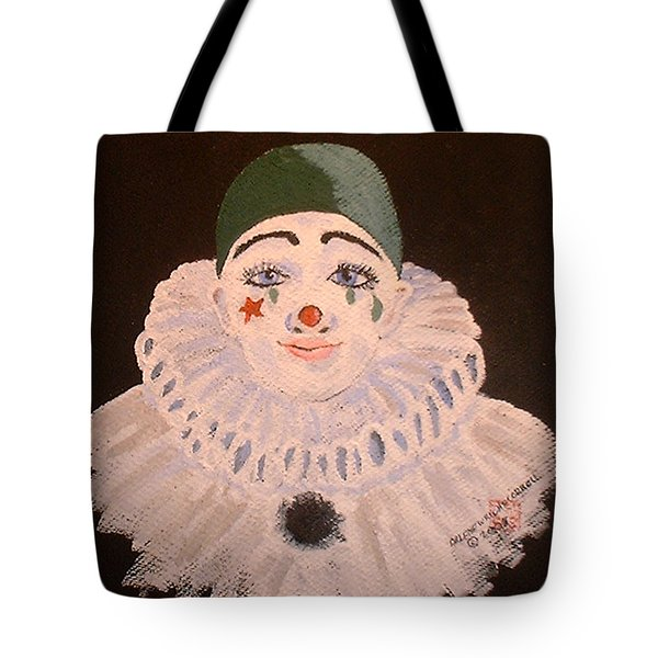 Celine The Clown Tote Bag by Arlene  Wright-Correll