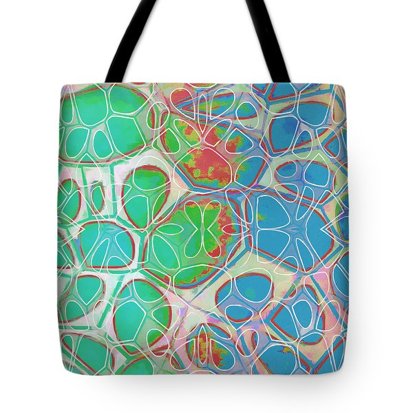 Cell Abstract 10 Tote Bag by Edward Fielding