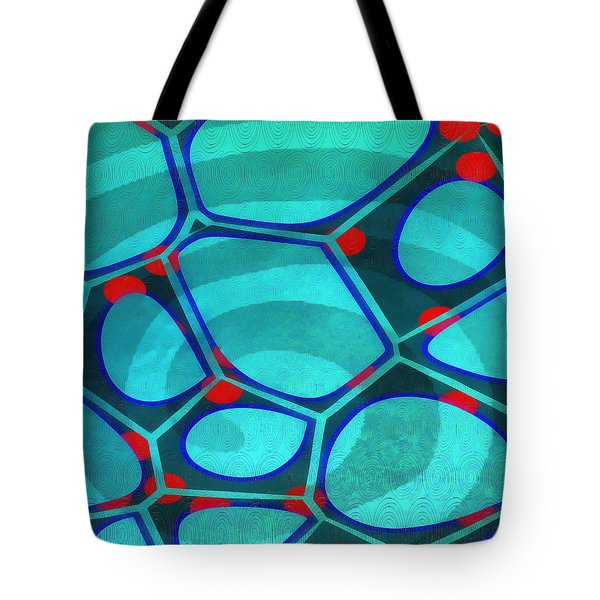 Cell Abstract 6a Tote Bag by Edward Fielding