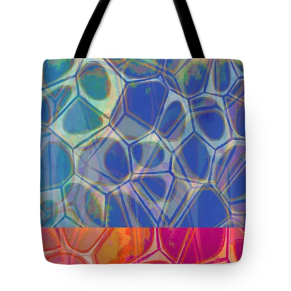 Cell Abstract One Tote Bag by Edward Fielding