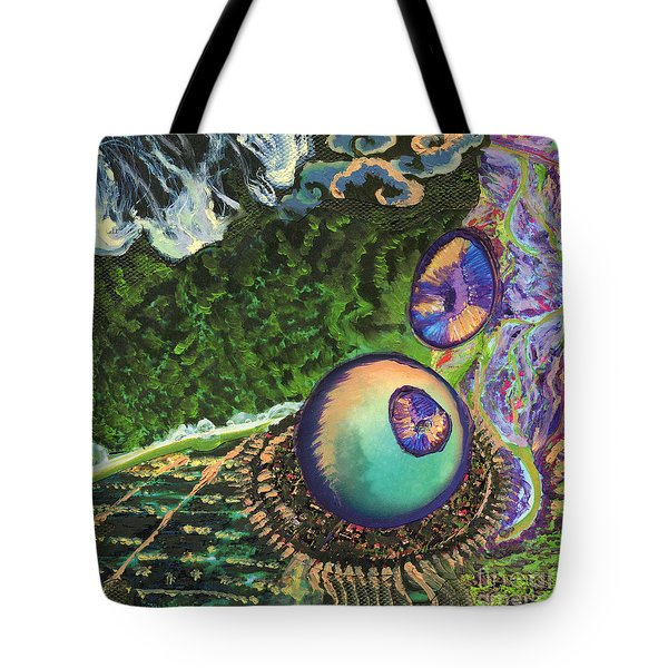 Cell Interior Microbiology Landscapes Series Tote Bag by Emily McLaughlin