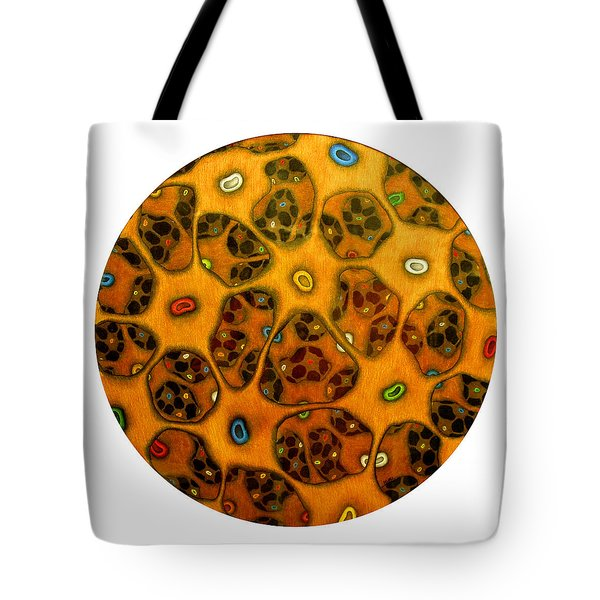 Cell Network Tote Bag by Nancy Mueller