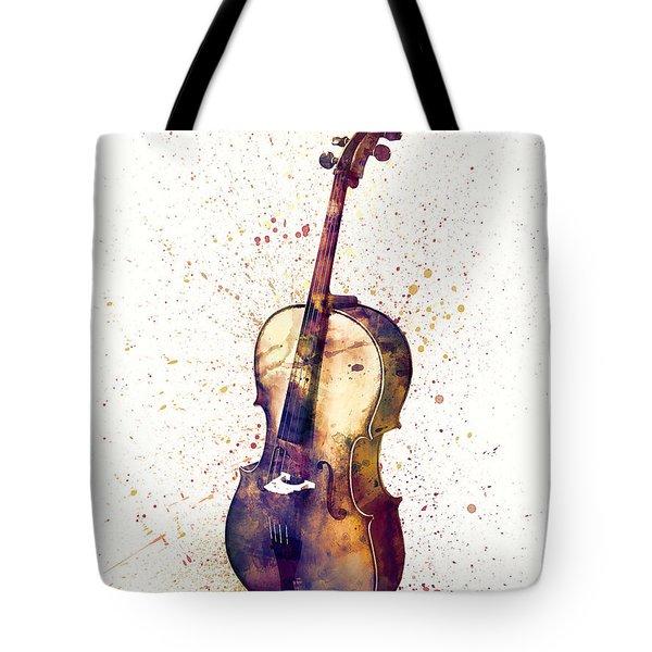 Cello Abstract Watercolor Tote Bag