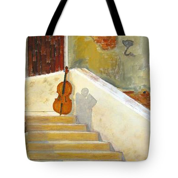 Tote Bag featuring the painting Cello No 3 by Richard Le Page
