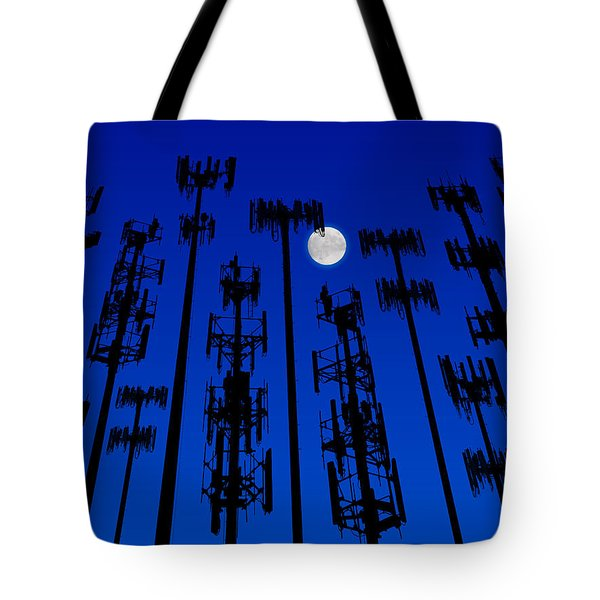 Cellphone Tower Forrest Tote Bag