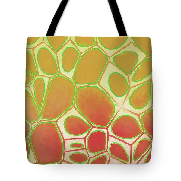 Cells Abstract Five Tote Bag by Edward Fielding