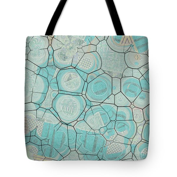 Tote Bag featuring the digital art Cellules - 04c1 by Variance Collections