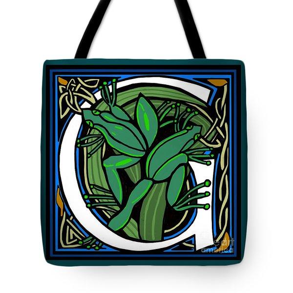 Celt Frog Letter G Tote Bag
