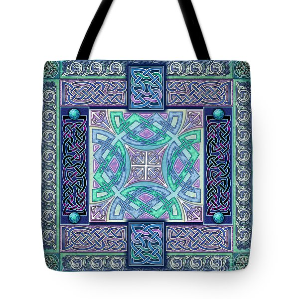 Tote Bag featuring the mixed media Celtic Atlantis Opal by Kristen Fox
