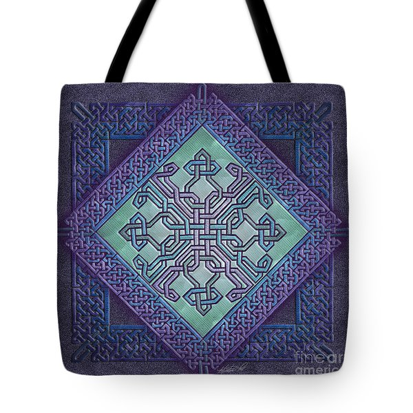 Tote Bag featuring the mixed media Celtic Avant Garde by Kristen Fox