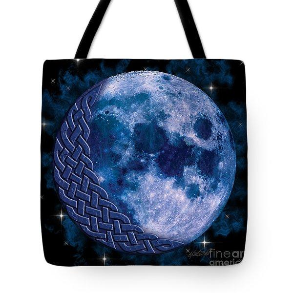 Celtic Blue Moon Tote Bag
