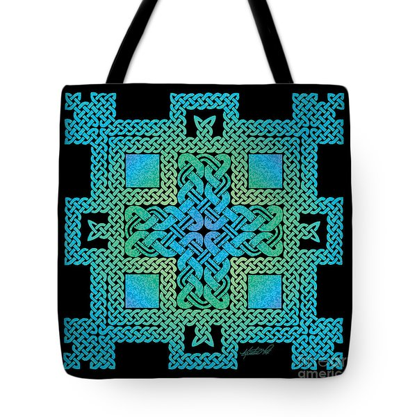 Tote Bag featuring the mixed media Celtic Castle by Kristen Fox
