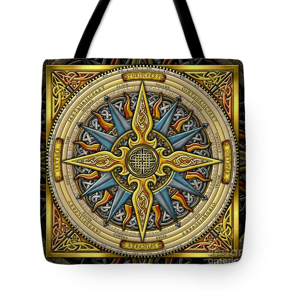 Celtic Compass Tote Bag