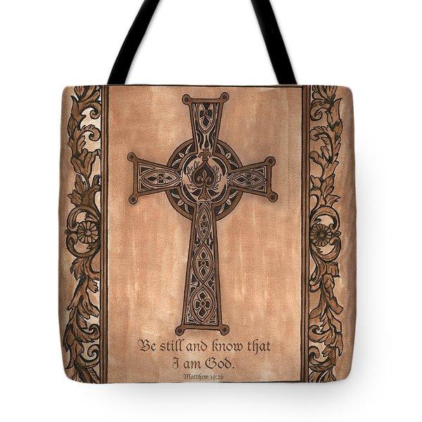 Celtic Cross Tote Bag by Debbie DeWitt