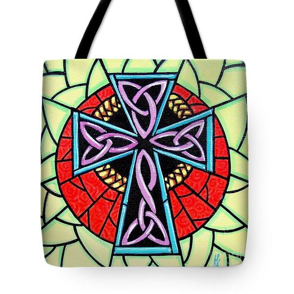 Celtic Cross Tote Bag by Jim Harris