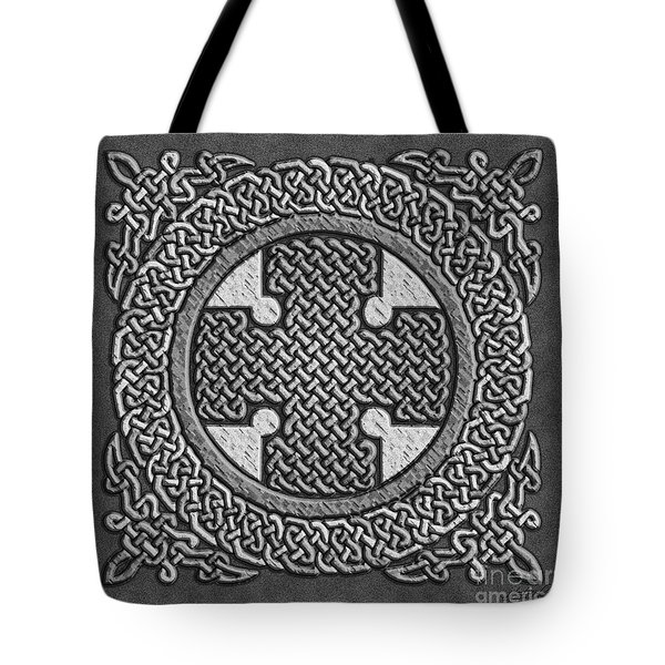 Tote Bag featuring the mixed media Celtic Cross by Kristen Fox