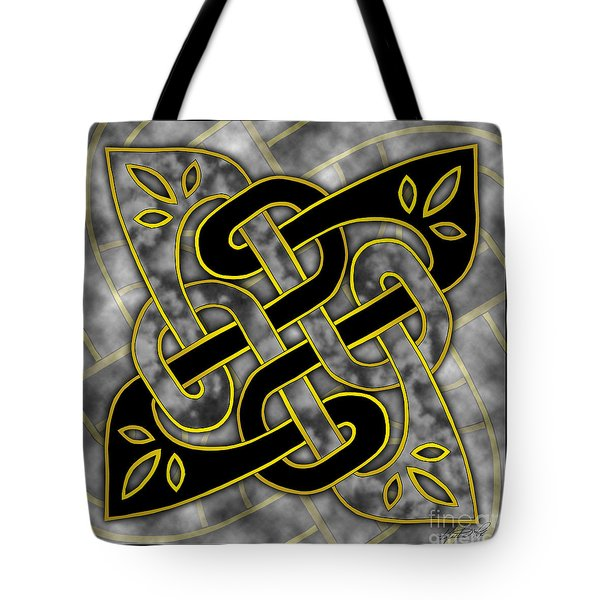 Tote Bag featuring the mixed media Celtic Dark Sigil by Kristen Fox