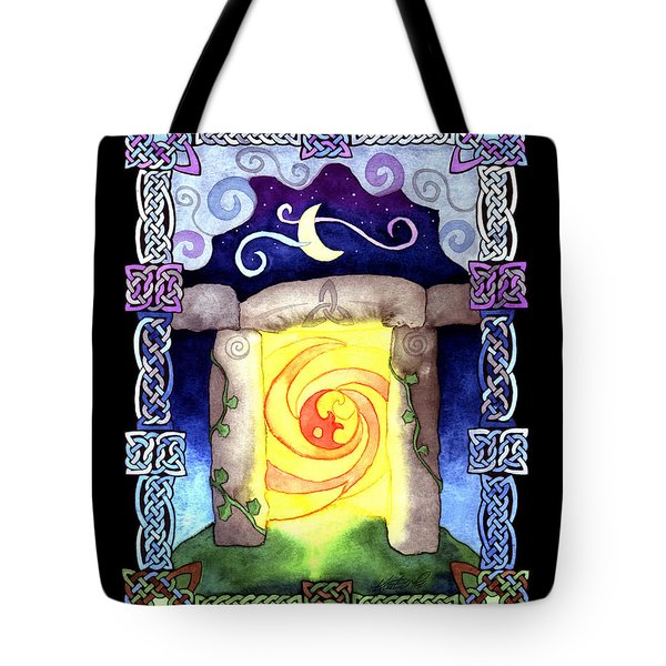 Tote Bag featuring the painting Celtic Doorway by Kristen Fox