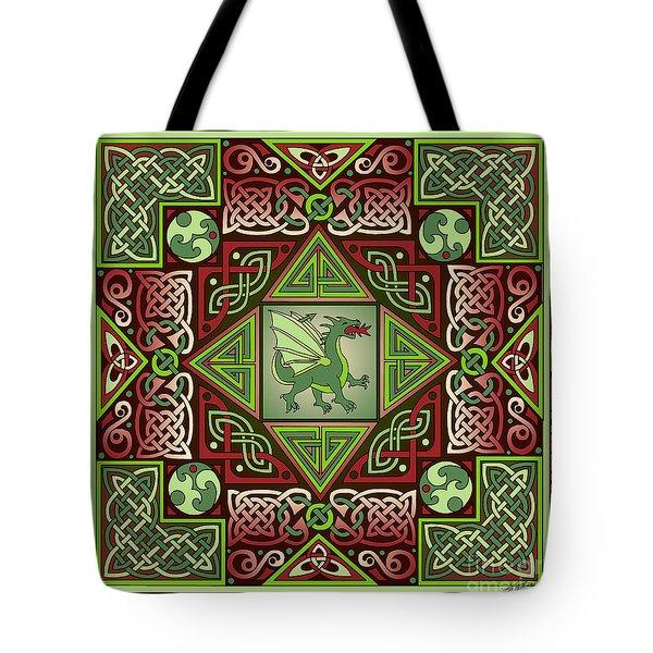 Celtic Dragon Labyrinth Tote Bag
