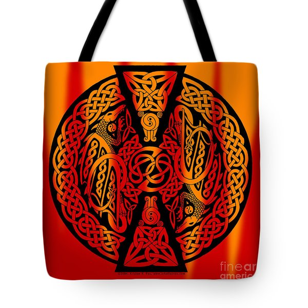 Celtic Dragons Fire Tote Bag
